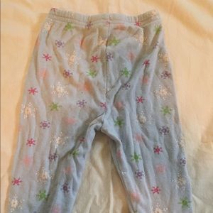 Other - Pajama bottoms with snowflakes size 12 month